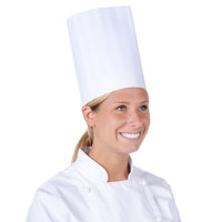 Chef Revival H057 9 inch Poly-Cotton Blend Classic Travel Chef Toque Hat with Adjustable Head Band