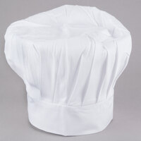 Chef Revival H400WH 13 inch White Poly-Cotton Blend Chef Hat with Adjustable Head Band