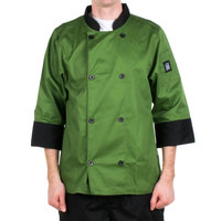 Chef Revival J134MT-XS Cool Crew Fresh Size 32-34 (XS) Mint Green Customizable Chef Jacket with 3/4 Sleeves - Poly-Cotton