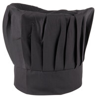 Chef Revival H400BK 13 inch Black Poly-Cotton Blend Chef Hat with Adjustable Head Band