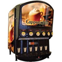Grindmaster PIC-6 Six Flavor Powdered Specialty Beverage Dispenser with Front and Side Graphics