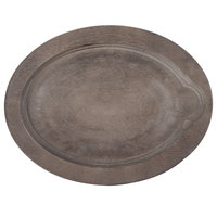Lodge UOPB 9 inch x 11 3/4 inch Walnut Wood Underliner for Oval Serving Griddles