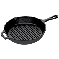 Lodge L8GP3 10 1/4 inch Pre-Seasoned Cast Iron Grill Pan