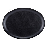 Lodge LOSH3 10 inch x 7 inch Pre-Seasoned Cast Iron Oval Serving Griddle without Handle