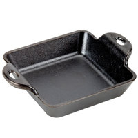 Lodge HMSS 10 oz. Pre-Seasoned Heat-Treated Cast Iron Square Mini Server