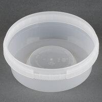 8 oz. Clear Tamper Evident Safe Lock Deli Container - 500 / Case