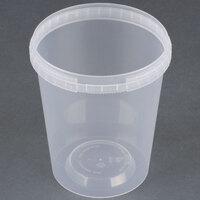 32 oz. Clear Tamper Evident Safe Lock Deli Container - 250 / Case