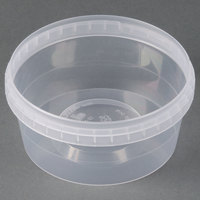 12 oz. Clear Tamper Evident Safe Lock Deli Container - 500 / Case