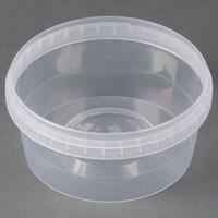 12 oz. Clear Tamper Evident Safe Lock Deli Container - 25 / Pack