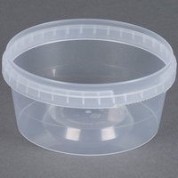 12 oz. Clear Tamper Evident Safe Lock Deli Container - 25/Pack