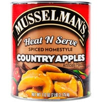 Musselman's #10 Can Heat N Serve Spiced Homestyle Country Apples   - 6/Case