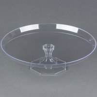 Fineline Platter Pleasers 3602-CL 13 3/4 inch Two-Piece Clear Cake Stand - 3/Pack