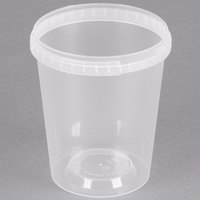 32 oz. Clear Tamper Evident Safe Lock Deli Container - 25/Pack