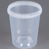 32 oz. Clear Tamper Evident Safe Lock Deli Container - 25 / Pack
