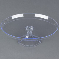 Fineline Platter Pleasers 3601-CL 11 3/4 inch Two-Piece Clear Cake Stand - 3/Pack