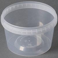 16 oz. Clear Tamper Evident Safe Lock Deli Container - 25 / Pack