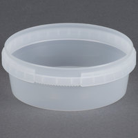 8 oz. Clear Tamper Evident Safe Lock Deli Container - 25 / Pack