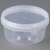 12 oz. Clear Tamper Evident Safe Lock Deli Container with Lid - 50 / Case
