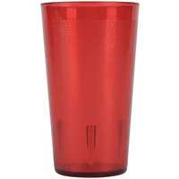 9 oz. Red Stackable Pebbled Plastic Tumbler - 12 / Pack