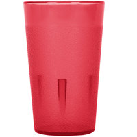 5 oz. Red Stackable Pebbled Plastic Tumbler - 12 / Pack