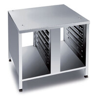 Rational 60.30.328 UG II 33 1/4 inch x 28 1/2 inch Open Front and Back Equipment Stand for 61 and 101 Combi Ovens (14 Pan Capacity)
