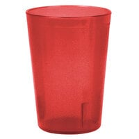 8 oz. Red Stackable Pebbled Plastic Tumbler - 12/Pack