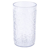 16 oz. Clear Pebbled Textured Plastic Tumbler - 12/Pack