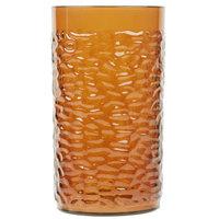 16 oz. Amber Pebbled Textured Plastic Tumbler - 12/Pack