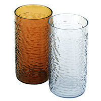 16 oz. Amber Pebbled Textured Plastic Tumbler - 12 / Pack