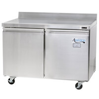 Avantco TWT-48F 48 inch Two Door Worktop Freezer with 3 1/2 inch Backsplash - 11.9 cu. ft.