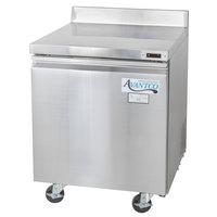 Avantco TWT-27R 27 inch Single Door Worktop Refrigerator with 3 1/2 inch Backsplash - 6.25 Cu. Ft.