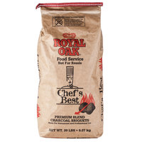 Royal Oak Chef's Best Restaurant Style Charcoal Briquettes - 20 lb.