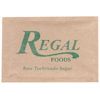 Regal Foods Raw Turbinado Sugar - (1000) 2.8 Gram Packets / Case