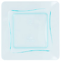 Fineline Tiny Temptations 6200-GRN 3 inch x 3 inch Tiny Trays Disposable Green Plastic Tray 10 / Pack