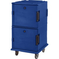 Cambro UPC1600SP186 Navy Blue Camcart Ultra Pan Carrier - Front Load Tamper Resistant