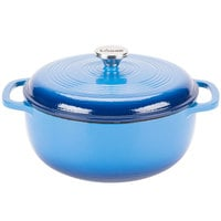 Lodge EC6D33 6 Qt. Caribbean Blue Color Enamel Dutch Oven