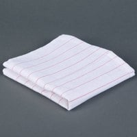 Chef Revival 702GT 16 inch x 29 inch Red Pinstripe Cotton Glass Polishing Towel - 12/Pack