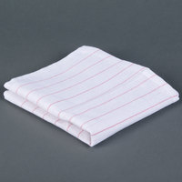 Chef Revival 702GT 16 inch x 29 inch Red Pinstripe Cotton Glass Polishing Towel - 12 / Pack