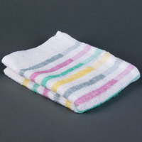 Chef Revival 705MSK 15 inch x 26 inch Multi-Stripe 100% Cotton Bar Towel - 12/Pack