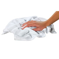 Chef Revival 700BRT24 16 inch x 19 inch White 24 oz. Ribbed 100% Cotton Bar Towel - 12 / Pack