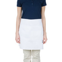 Chef Revival 607HBA2-WH 28 inch x 19 inch Customizable Two Pocket White Bistro Apron