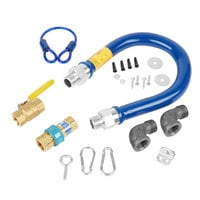 Dormont 1675KIT24 Deluxe SnapFast® 24 inch Gas Connector Kit with Two Elbows and Restraining Cable - 3/4 inch Diameter