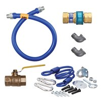 Dormont 16100KIT60 Deluxe SnapFast® 60 inch Gas Connector Kit with Two Elbows and Restraining Cable - 1 inch Diameter
