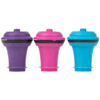 Vacu Vin 0886060 Replacement Wine Stoppers Assorted Colors - 6 / Pack