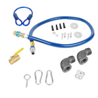 Dormont 1675KIT72 Deluxe SnapFast® 72 inch Gas Connector Kit with Two Elbows and Restraining Cable - 3/4 inch Diameter