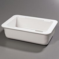 Carlisle CM104202 White 6 inch Deep Full Size Coldmaster Cold Pan - Food Pan Holder