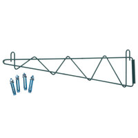 Regency 24 inch Deep Wall Mounting Bracket Set for Green Epoxy Wire Shelving