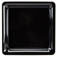 Fineline Platter Pleasers 3541-BK 14 inch x 14 inch Plastic Black Square Tray