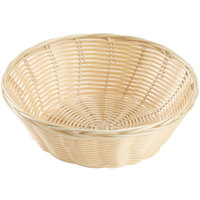 9 inch Round Natural-Colored Rattan Basket
