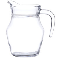 Cardinal Arcoroc E7258 16 oz. Glass Pitcher with Pour Lip - 12/Case